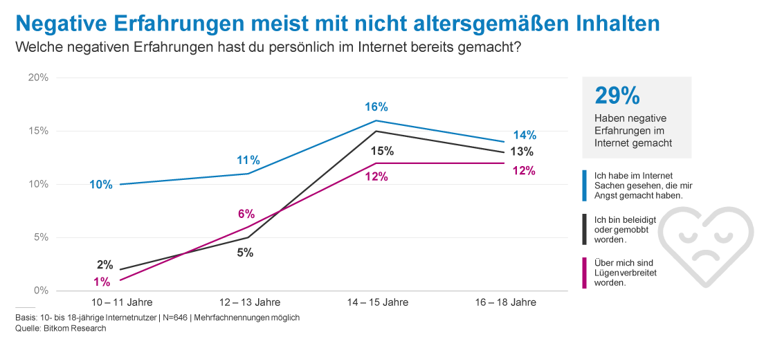 Statistik zu negativen Erfahrungen im Internet